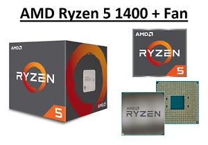 AMD Ryzen 5 1400 Quad Core Processor 3.2 - 3.4 GHz, Socket AM4, 65W Sealed Box