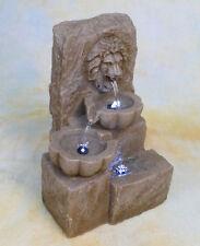 Zimmerbrunnen Springbrunnen Wasserwand Tischbrunnen LED Brunnen Löwe  DW02-a