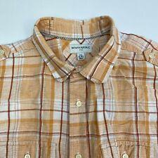 Banana Republic Button Up Dress Shirt Mens Size 18-18.5 Short Sleeve Multi Plaid