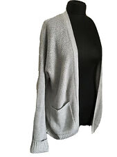 Womens HOLLISTER Cardigan Grey Size M.BNWT. Open Front  Sold Out