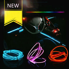 LED Car Interior Atmosphere Glow EL Wire Neon String Strip Light Halloween