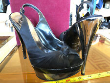 New Look Killer High Heels Sexy Open Toe Slingbacks Size UK 4 Bad Condition Used