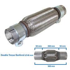 ADAPTATEUR ECHAPPEMENT FLEXIBLE TRESSE FLEX TUBE MALE Ø 48mm L 200mm / 300mm