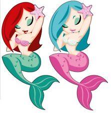 Mermaids Reusable Wall Sticker Decal Remove & Reuse Nursey Home Decor