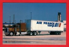 Truck Postcard ~ Peterbilt Conventional: Air France Cargo - Niccolini of Italy