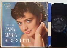 "ANNA MARIA ALBERGHETTI ""Songs by"" VERY RARE 1955 DG MERCURY MONO LP in shrink"