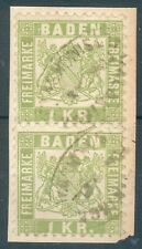 Baden, Kl. Briefstück Mi.-Nr.2x23o, Postablagestempel Waldkirch-Altsimonsawald
