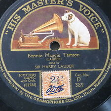 "78rpm 12"" HARRY LAUDER bonnie maggie tamson / a wee deoch an doris D389"