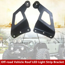 2X Off-road Vehicle Roof LED Light Strip Bracket Car Upper Bar Mounting Bracket