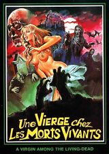 A VIRGIN AMONG THE LIVING DEAD Movie POSTER RARE Horror Silk Wall Vintage 24X32""
