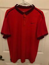 Roger Federer Nike 2014 Shanghai WTF polo shirt mens XL RF tennis