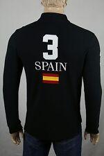 Ralph Lauren Small S Black Spain Custom Fit Big White Pony NWT $145