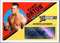WWE Randy Orton 2006 Topps Heritage II Authentic Autograph Card