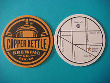 Beer Coaster Bar Mat ~ COPPER KETTLE Brewing Co Mexican Chocolate Stout ~ DENVER