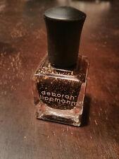 DEBORAH LIPPMANN Nail Polish in CLEOPATRA in NEW YORK - black with gold glitter