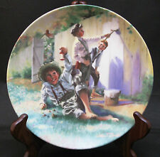 "Tom Sawyer Series #1 - ""Whitewashing The Fence"" - Knowles Collectors Plate"