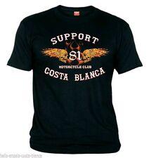 01 Hells Angels Flaming Sculls Black T-Shirt Support81 Big Red Machine 1% 666