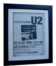 U2+MYSTERIOUS WAYS+POSTER+AD+RARE ORIGINAL 1992+QUALITY+FRAMED+FAST+GLOBAL SHIP