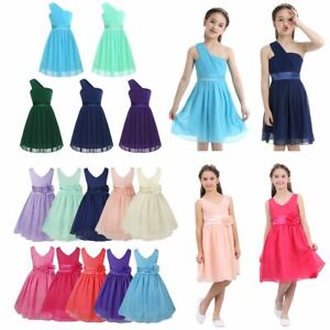 Flower Girls Dress Princess Pageant Gown Bridesmaid Birthday Party Floral Dress
