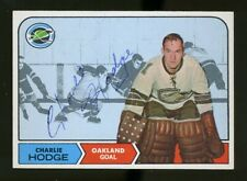 1968-69 Topps #78 CHARLIE HODGE Autograph/Auto Card Oakland Seals