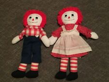 """Collectors' Raggedy Ann & Andy Dolls  27"""" LARGE 1980's DOLLS Set Lot 2"""