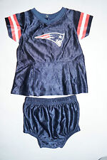 2 Piece New England Patriots Dress LOT Cheerleading Outfit 6-12 Months Bloomers
