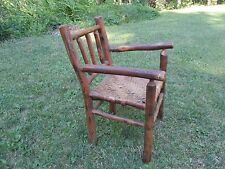 Neat Antique Rustic Primitive Old Hickory Child Size Chair In Original  Finish