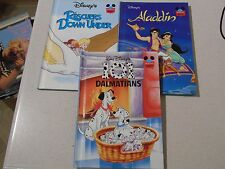 3 x Disney's Wonderful World of Reading Rescuers Down Under/Aladdin/101 Dalmatio