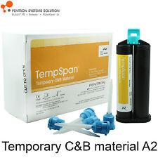 Pentron TempSpan C&B Dental Temporary Crown & Bridge Material A2 80gr