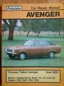 Chrysler / Talbot Avenger Repair Manual From 1970