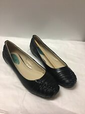 Fitzwell Black Kid Leather Ballet Flats Shoes Size 7