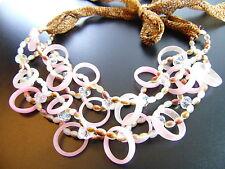 Ovale Modeschmuck-Halsketten & -Anhänger aus Glas für Damen