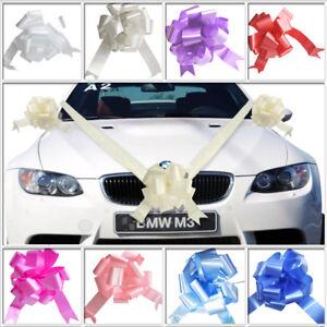 Wedding Car Decoration Kit 7 Metres of Ribbon & 1 3 5 Large Bows RIBBON BOW CAR