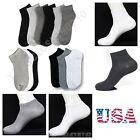 Men Women 9-11 10-13 Ankle Cut Sport No Show Socks Lot White Grey Black 3 6 12 P