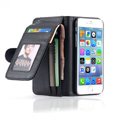 Wallet Flip Stand Card Slots Leather Case Cover For iPhone 6s Plus 5SE&Samsung