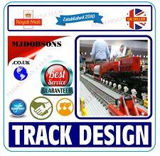 More details for model railway. layouts track plans build design  cad hornby oo gauge
