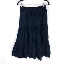 Club Monaco Tiered Peasant Skirt Size Small Black Boho Hippie Festival Midi