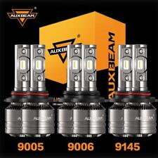AUXBEAM 6x combo 9006 9005 9145 LED Headlight Fog Light for Chevrolet Silverado