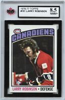 1976-77 Topps #151 Larry Robinson Graded 8.5 NMM+ (*100519-86)