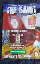 St Patrick's Athletic v Valletta Europa League football programme, July 2009