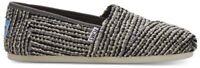 Toms Classic Black Sequin Boucle Womens Espadrilles Shoes