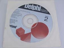 Borland Delphi 2 for Windows 95 & Windows NT 32 Bit RAD BOR9619 FREE SHIPPING