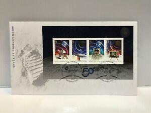 2019 The Moon Landing 50 Years On (Mini Sheet) FDC -