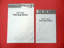 20 Poly Bag Postal Mailing Envelope Combo 10x13 & 7.5x10.5 Self-Sealing Mailers
