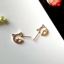 Baby Lover Women Jewelry Silver-plated Girls Hollow Cute Earrings Stud Cat