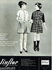 PUBLICITE ADVERTISING 115  1964  Les vetements enfants LINFLOR TERCRYL