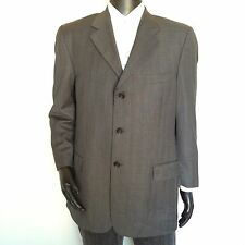 Pavone Mens Suit Coat Size 43 Regular Pin Striped Dress Blazer Made In Italy M/L