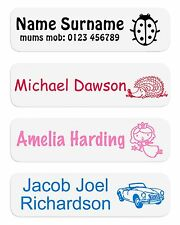 Iron On Name Labels Ideal for Nursery, Schools, Care Homes and Free Delivery