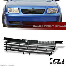 FOR 1999+ VW JETTA 4 MK4 BLK BADGELESS FRONT BUMPER GRILL GRILLE w/NOTCH FILLER