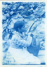 Italia, Costumi Vintage print.  cyanotype  12x17  Circa 1890